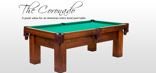 The Coronado - Golden West - New Pool Table Sales NJ