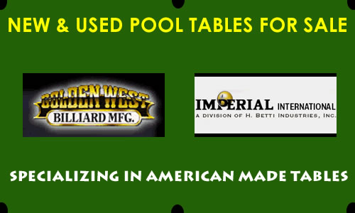 New and Used NJ Pool Table Sales