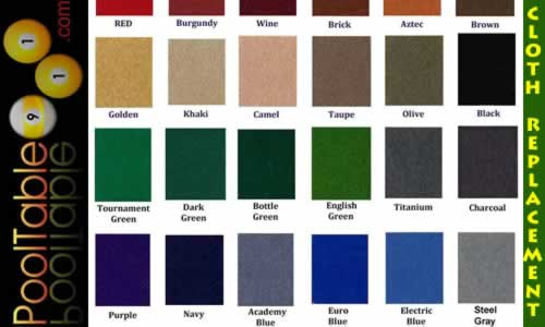 NJ Pool Table Cloth Swatch