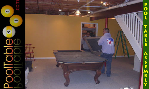 NJ Pool Table Assembly